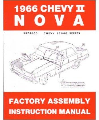1966 Chevrolet Chevy ll Nova Assembly Manual Book Rebuild Instructions Drawings ()