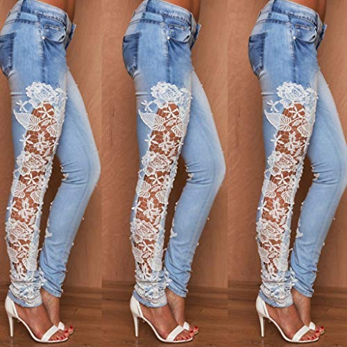 Blu Pizzo Estate Sottile Moda Donna Jeans Rxf Slim S4x8An0