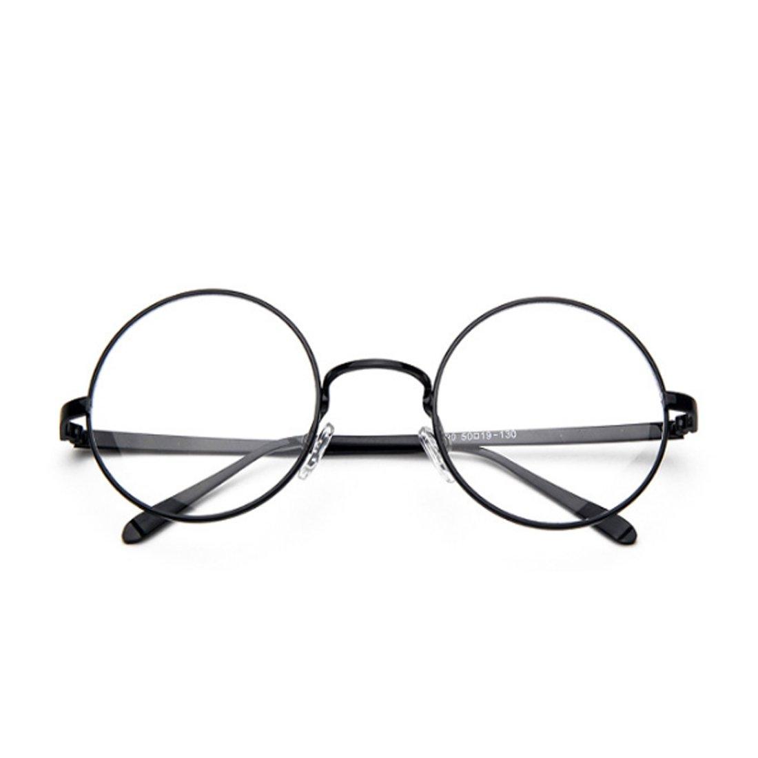 ac7718aa19 Yefree Femme Mâle Verres pour la myopie Lunettes rondes Cadre lunettes  fines Cadre rétro Lunettes et Accessoires