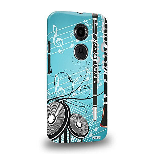 2nd Clarinet (Pin-1 [Motorola Moto X (2nd Gen)] 3D Printed Snap-on Hard Case & Warranty Card - musical instrument design clarinet DSE0307)