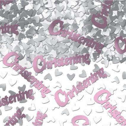 Partyexplosion Christening Pink Table Confetti
