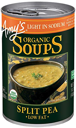 Amy's Soups, Light in Sodium Organic Split Pea Soup, 14.1 Ounce (Best Vegetarian Split Pea Soup)
