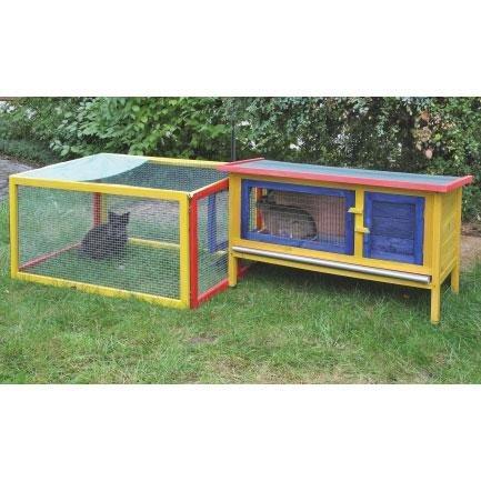 Kerbl Rodent Home Motley; cobertizo exterior, recinto ...