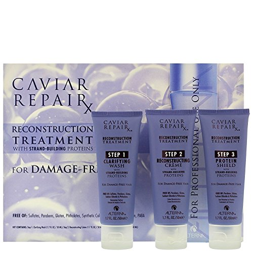 Alterna Caviar Repair Rx Reconstruction Treatment Kit With Strand Building Proteins, 3 Count