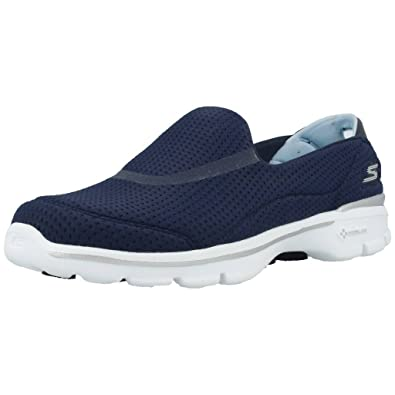 Skechers Damen Go Walk 3 Unfold Sneakers, grau