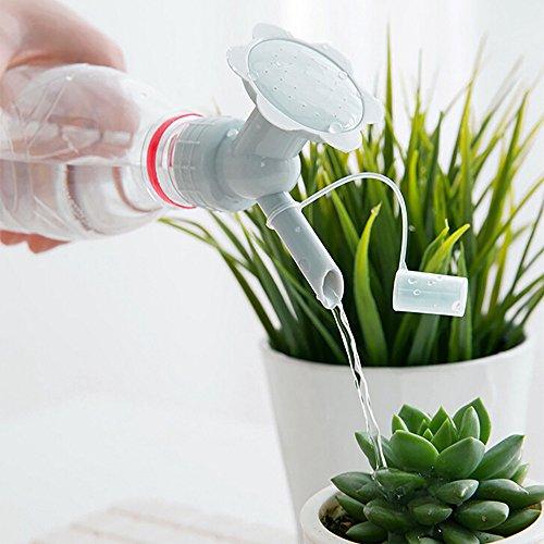 (Gotian 2In1 Plastic Sprinkler Nozzle for Flower Waterers Bottle Watering Cans Sprinkler -Delicate and Directional Watering- for Seeds and Seedlings - Household Simple Cap Flower Sprinkler (Gray))