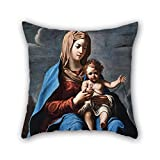 loveloveu pillow shams of oil painting Francesco Cozza - Madonna and Child 18 x 18 inches / 45 by 45 cm,best fit for her,divan,dinning room,gril friend,family,son double sides