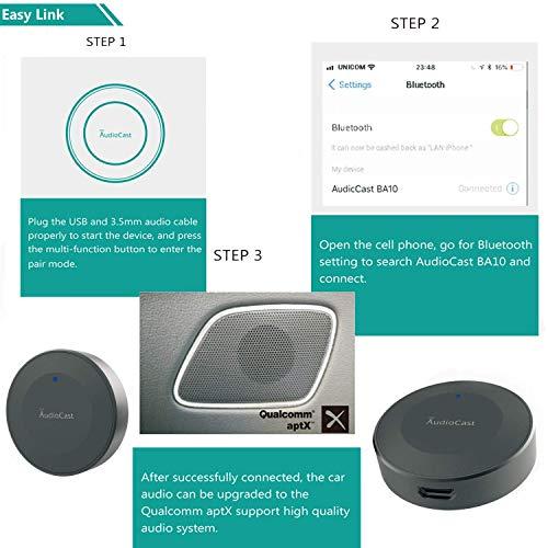 Anewish Wireless Bluetooth Audio Receiver Bluetooth 4 2