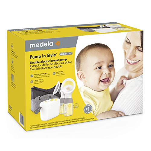 51ta9CD01lL - New Medela Pump In Style With MaxFlow, Electric Breast Pump Closed System, Portable Breastpump, 2020 Version