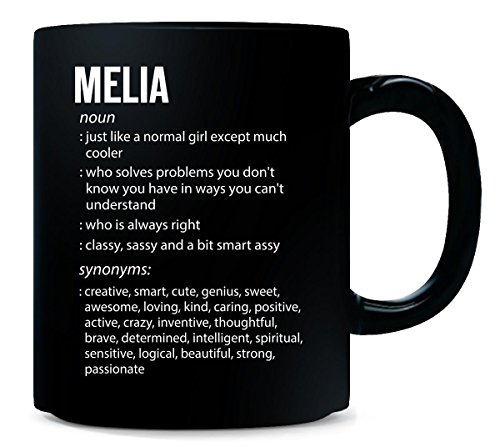 Melia Name Meaning Xmas Birthday Gift - Mug - Melia Ceramic