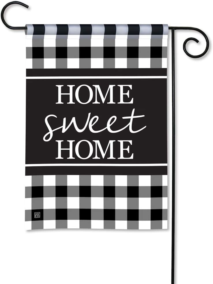 BreezeArt Studio M Black & White Check Decorative Garden Flag – Premium Quality, 12.5 x 18 Inches