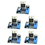 Optimus Electric 5pcs TDA2030 Chip Audio Amplifier Module Board with 18W Output, 10K Potentiometer Volume Adjustment and Power Indicator from