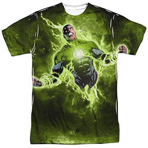 Green Lantern Inner Strength (Front Back Print) Mens Sublimation Shirt White XL