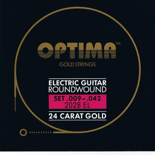 Optima 24 K Gold Plated Electric Guitar Strings .009-.042 by Optima Musical Strings