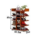 LQQGXL Shoe Rack Organizer Storage, Simple Multi-Storey Wooden Racks, Solid Wood high-Capacity Shoe, Home Shoe Rack. (Size : 63.22780cm)