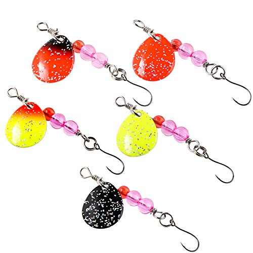 SUNMILE Fishing Spinner Lure,Hard Metal Spinner Baits Kit for Trout Salmon (Package of 5pcs)