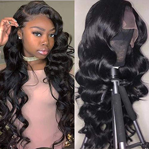 Maxine Hair Lace Front Wig Loose Wave Human Hair Wigs-Glueless 130% Density Brazilian Virgin Remy Wigs with Baby Hair 18 inch