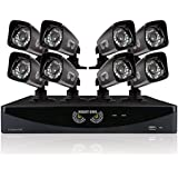Night Owl Security B-AZ16-8700-1 16-Channel Video Security System with TVL Bullet Cameras (Black)