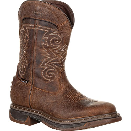 Marbled Waterproof Men's Boots Rocky Western 12'' Tan Skull Iron Brown 0wqpg