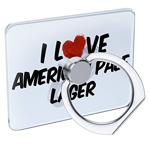 Cell Phone Ring Holder I Love American Pale Lager Beer Collapsible Grip & Stand Neonblond
