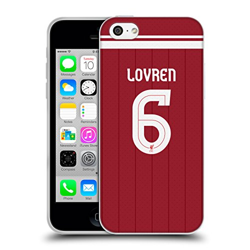Official Liverpool Football Club Dejan Lovren Players Home Kit 17/18 Group 2 Soft Gel Case for Apple iPhone 5c