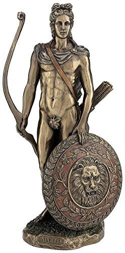 Apollo Greek God of Archery Statue Bonded Bronze Desktop Size