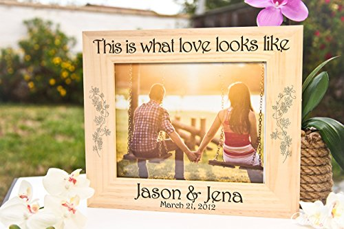 Personalized Picture Frame - This is What Love Looks - A What Is Ban Ray