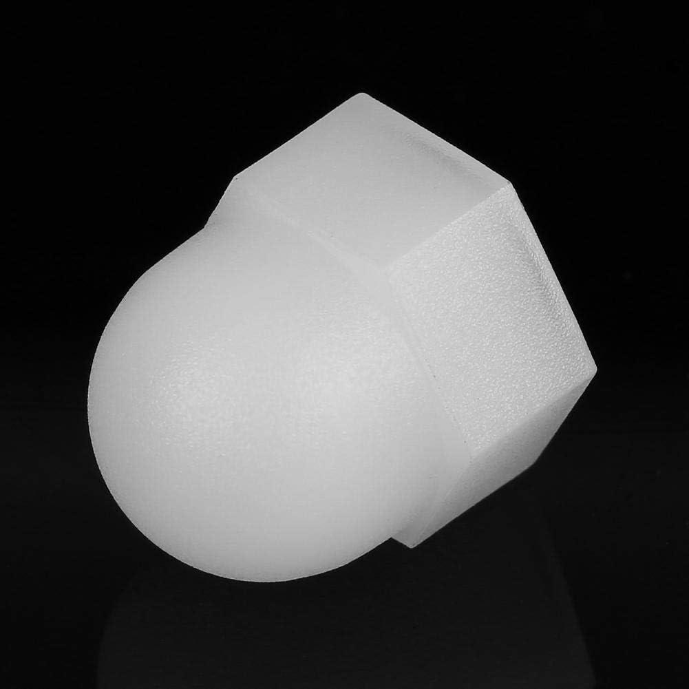 M10*1.5, 30pcs Tuercas de cabeza de c/úpula hexagonal hexagonal de nylon de color blanco Modelo diferente Kit de tuerca de bellota de pl/ástico