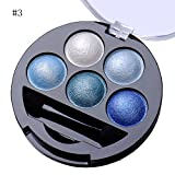 mineral fusion eye makeup remover - 5 Colors Pigment Eyeshadow Palette Eye Shadow Powder Metallic Shimmer Makeup Beauty Professional Make Up Warm Color Waterproof #3