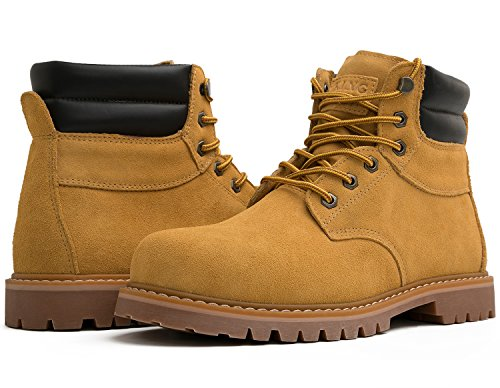 KINGSHOW Men's 1801 Work Boots (9 M US Men's, Wheat)