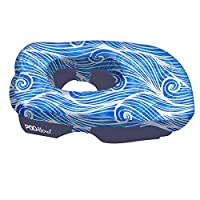 PODillow Be Worry Free! The Innovative FACE-Down Pillow with Pockets- Blue Doodle