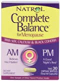 Natrol Complete Balance A.M./P.M. Formula for Menopause, Two, 30 Capsule Bottles