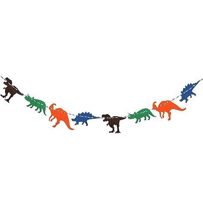 Tinksky Niños Bunting de Banner Non Woven Dinosaurios Bandera Guirnalda Banner Party Habitaciones de cumpleaños Decoración Suministros: Juguetes y juegos