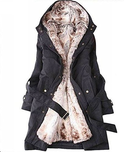 Lilian Women's Long Down Coat Winter Outerwear with Hood at Amazon ...