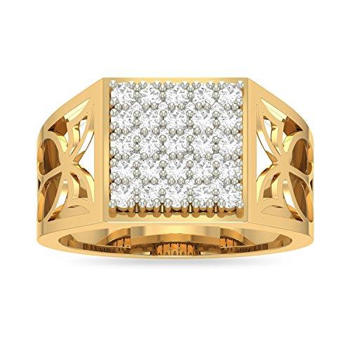 PC Jeweller The Sihaam 18KT Yellow Gold   Diamond Rings