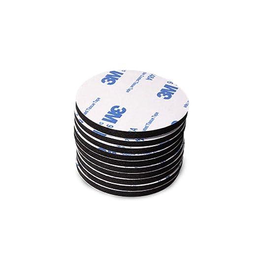 50pcs Set Impermeable Espesado Fuerte Viscidity 3M de Doble Cara Redondo//Cuadrado Cinta Adhesiva
