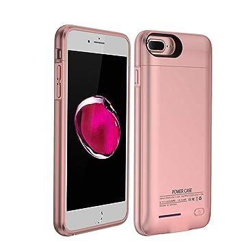 HOTSO 3000mAh Carcasa Batería Funda Magnética, 4,7 Pulgadas Batería Externa Recargable Cargador de Banco Energía de Móvil para iPhone 6/6s/7/8 (Oro ...