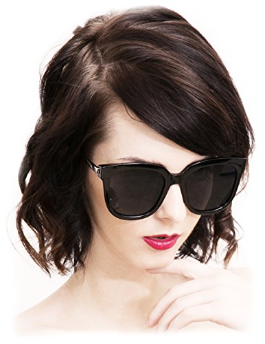 O2 Eyewear 5003 Premium Oversize Womens Mens Mirror Funky Fashion Sunglasses (METAL ARM, SILVER - Between Polarized Difference Uv Protection And
