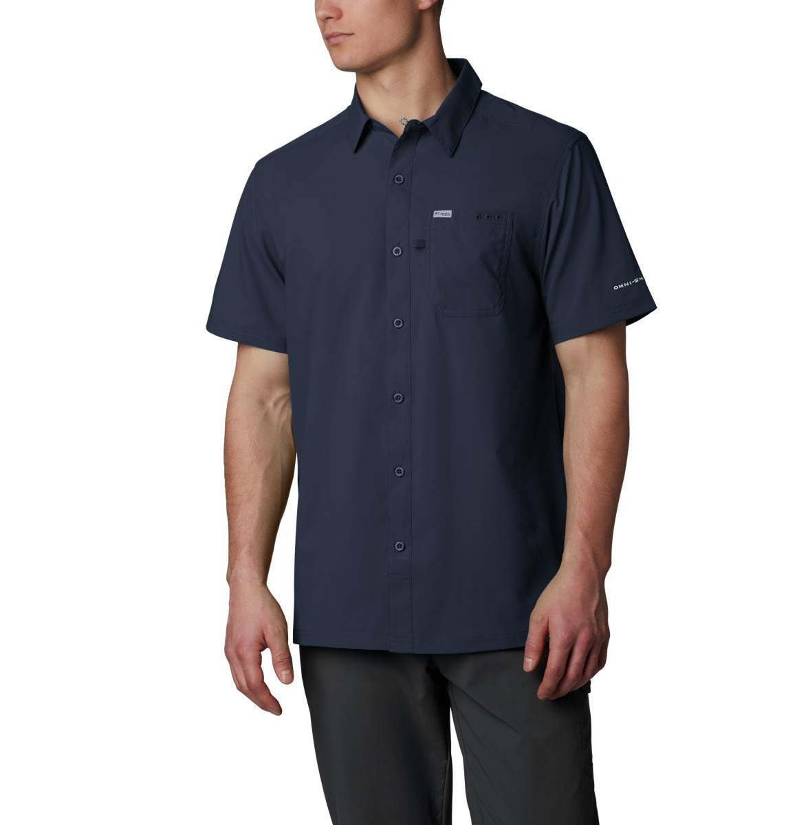 Columbia Men's Big and Tall Slack Tide Camp Shirt, Collegiate Navy, LT by Columbia