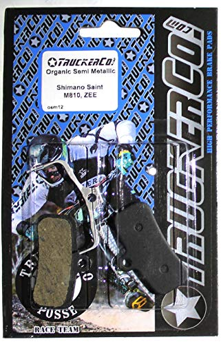 Truckerco Organic Semi Metallic Disc Brake Pads Fits Fits Shimano BR Models: Saint M810, Saint M820 ZEE M640 H01A, H03A Bengal Models: Helix 4X D01S, D02S