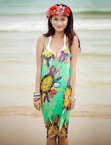 skt-swimwear Print Sommer Stil Strand Kleid New Arrival Bademode Frauen Bikini Cover Up Hot Verkauf Frauen Strand Kleid