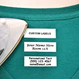 Galloo 100 Pre-Cut Iron On Personalized Clothing Name Labels/Tags for Nursing Homes, Camp, College, Day Care and Uniforms w/Font Choice
