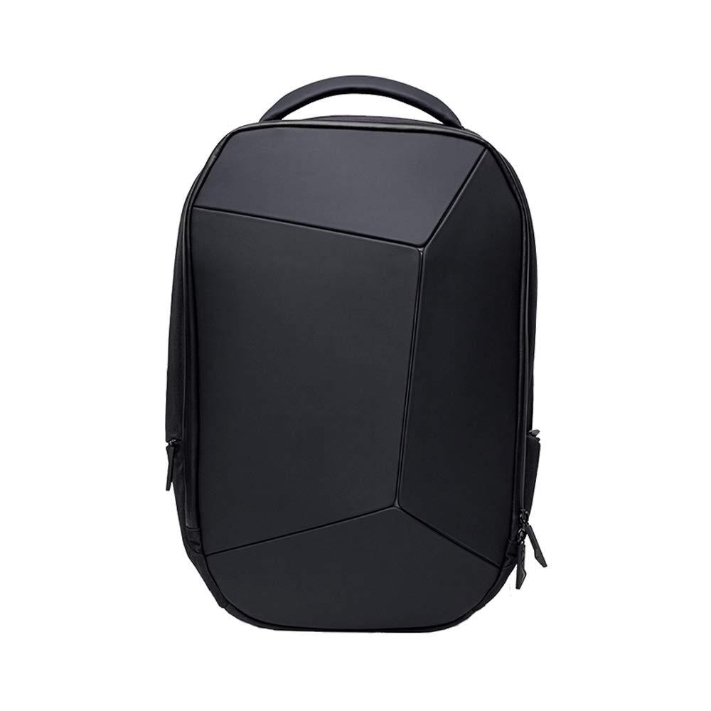 L-LK ファッショントレンドリュック、学生のバックパック女性男性、スリム旅行バックパック、防水ファッション15.6インチのノートパソコンのバックパックコンピュータバッグ/学生バッグ - ブラック