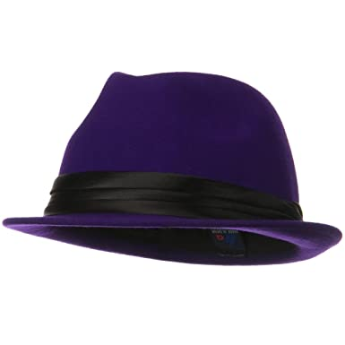 5c324c26c84 MG Ladies Wool Felt Fedora Hat - Purple: Amazon.co.uk: Clothing