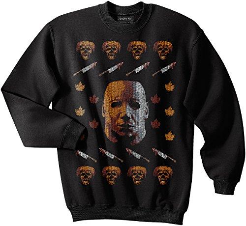 Michael Myers sweatshirt, Halloween, No lives matter, Ugly Christmas Sweater (Ugly Halloween Sweaters)