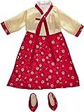 "Korean Hanbok Dress & Shoes - Fits 18"" American Girl Dolls"