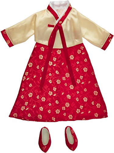Korean Hanbok Dress & Shoes - Fits 18