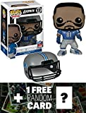 cleveland browns action figures - Calvin Johnson - Lions: Funko POP! x NFL Vinyl Figure + 1 FREE Official NFL Trading Card Bundle [46385]