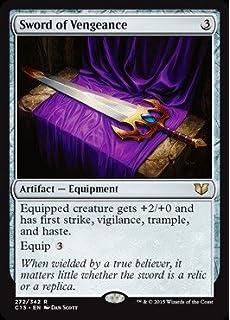 SWORD OF VENGEANCE Commander 2015 MTG Artifact — Equipment Rare