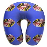 Maryland Flag Comfortable Neck Pillow Spa Memory Foam U-SHAPE Toddler Car Seat People
